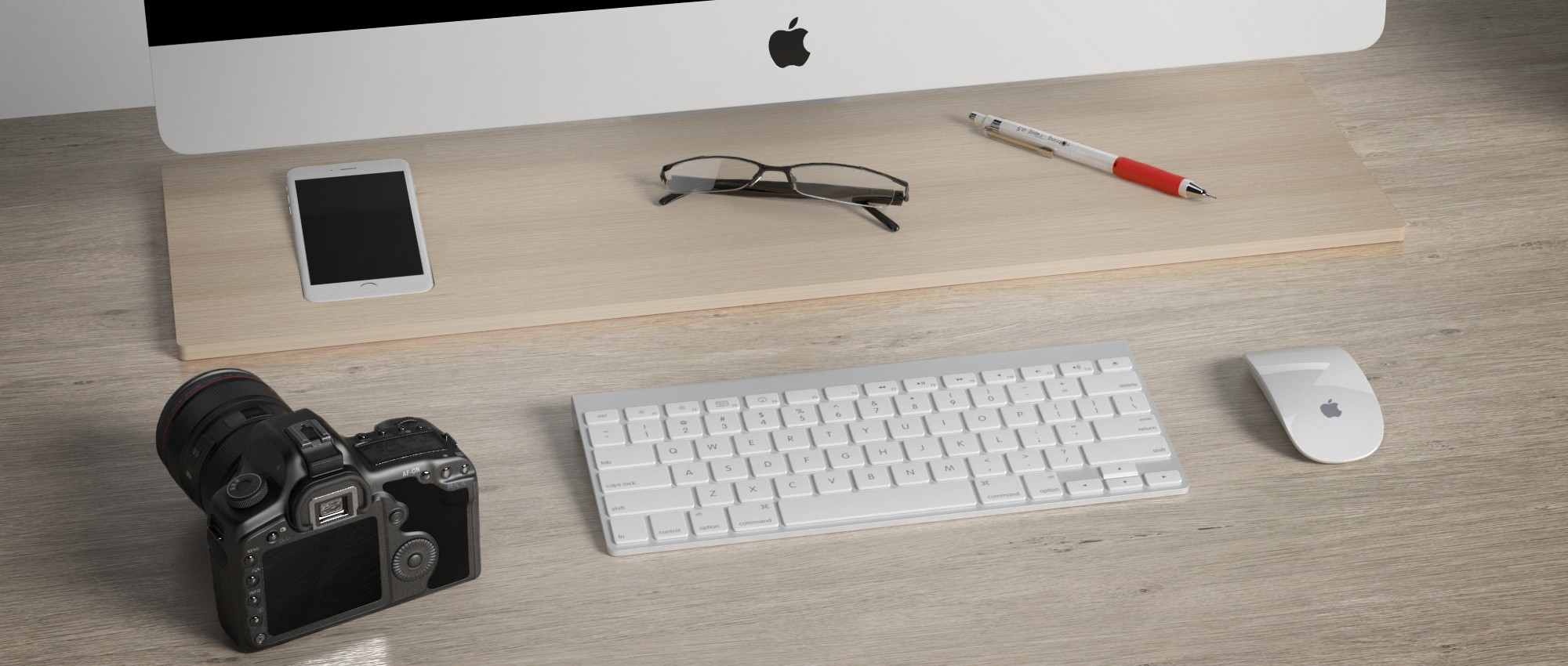 Tamm iPhone 6 Plus Dock & Apple iMac Desk Organizer